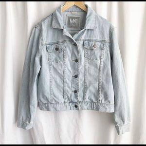 Micheal Kors light blue jean jacket